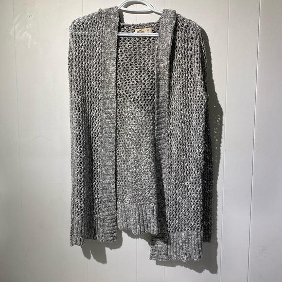 hollister hooded knit cardigan